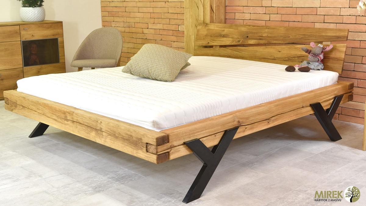 caba18844b84 Pozrite sa na najžiadanejšie manželské a jednolôžkové postele 2018 zo  sortimentu NÁBYTOK MIREK. V ponuke nechýbajú postele z masívneho dubu