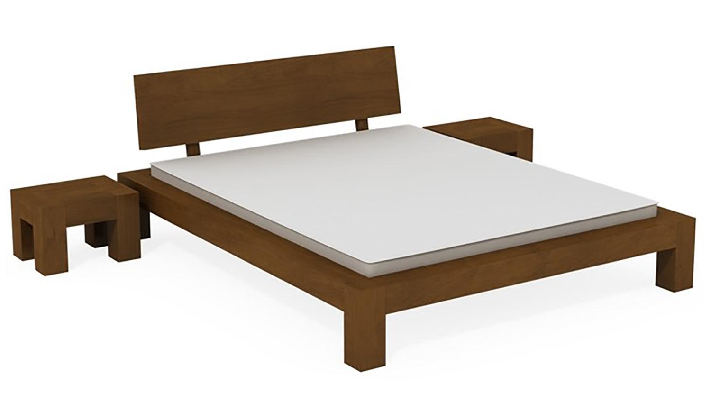 Moderná luxusná posteľ 200x200 cm Lugo zo sortimentu firmy NÁBYTOK MIREK. Je z brezového dreva.