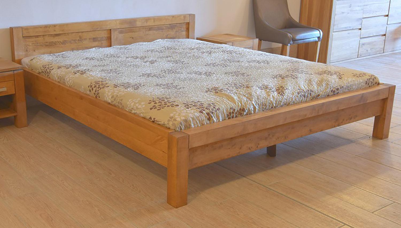Moderná posteľ z brezového dreva 180x200 cm v odtieni dub. (Výrobca: NÁBYTOK MIREK)
