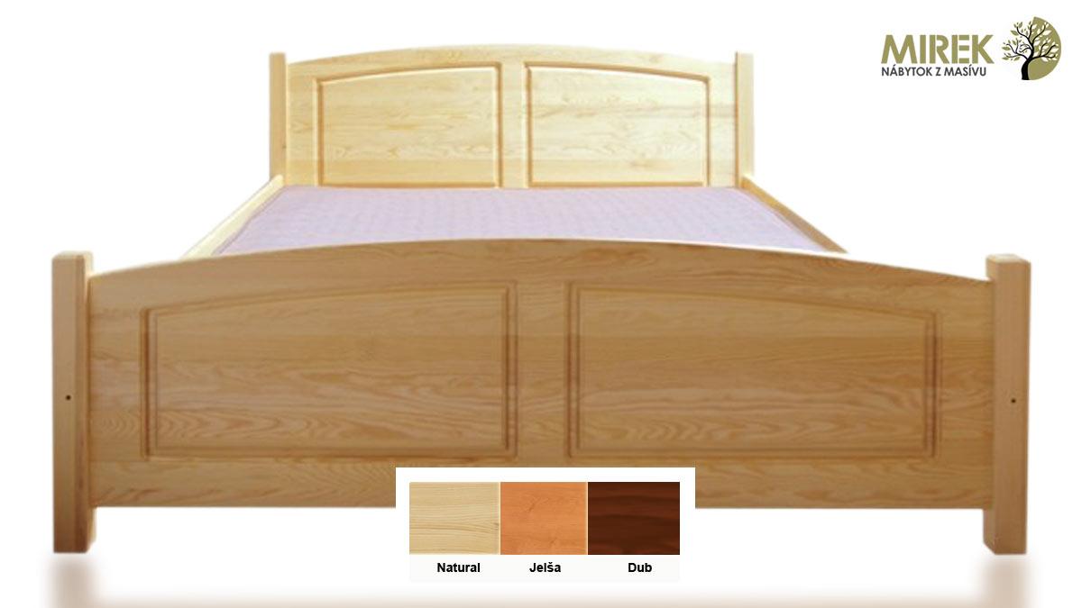 Postele podľa materiálu: Borovicové postele sa veľmi často moria do rôznych odtieňov. Obľúbené sú ale aj v pôvodnej farebnosti, ktorá časom získava prirodzene tmavší odtieň.