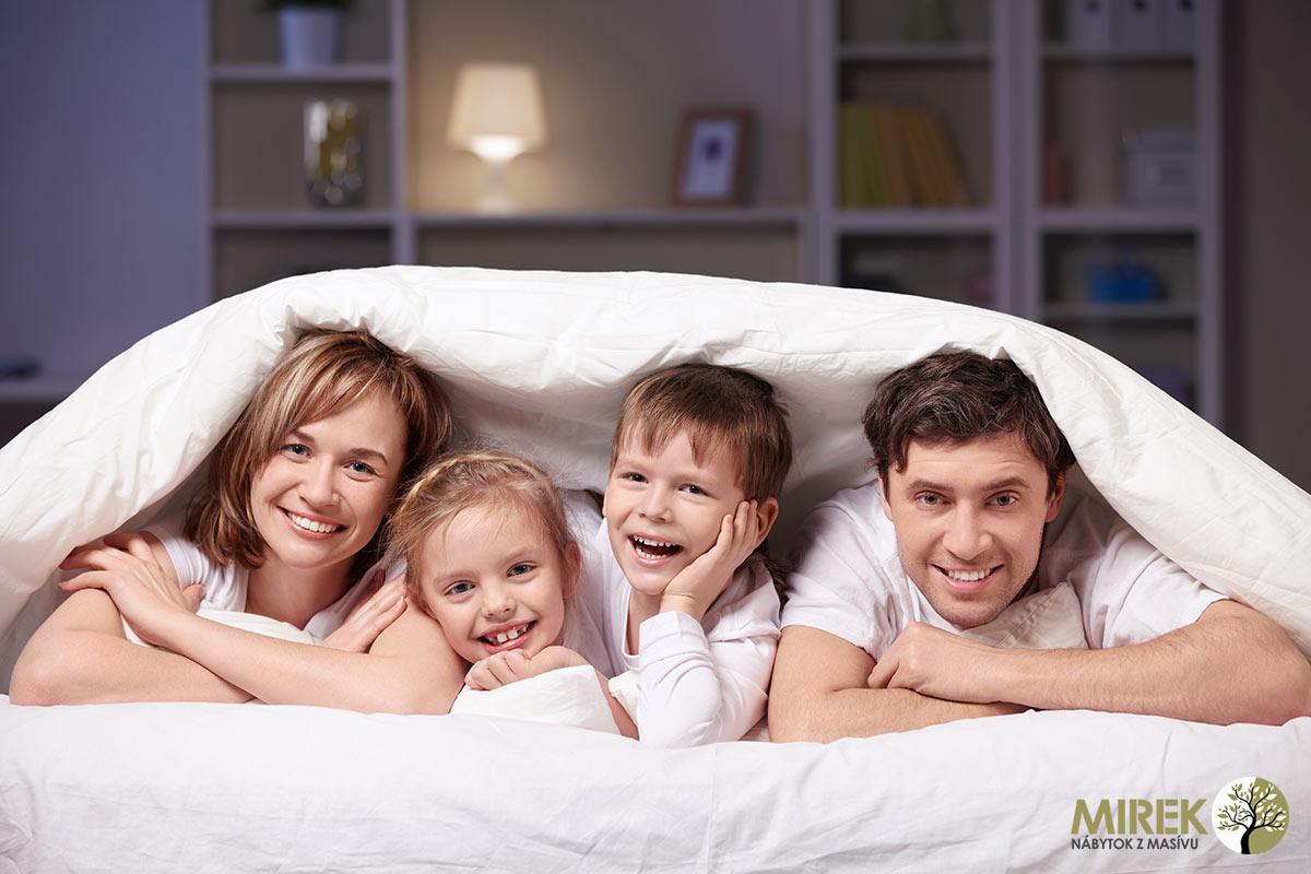 Doprajte si zdravie pre celú rodinu v kvalitných a zdravých posteliach z masívu.